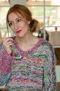 Chunky V Neck Sweater Pattern By Audrey Wilson Ravelry