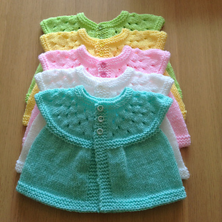 3c2ac63349d04b Ravelry  Watermelon Baby Cardigan pattern by Stitchylinda Designs
