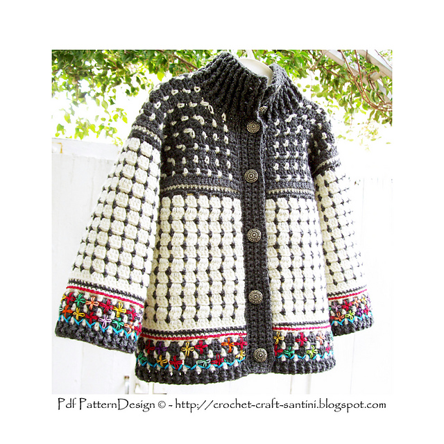 Ravelry Fair Isle Style Cardigan For Kids Pattern By Sophie And Me