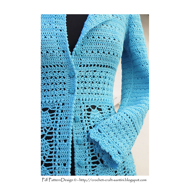 a8ce0f066 Ravelry  BLUE LACE CARDIGAN pattern by Sophie and Me-Ingunn Santini