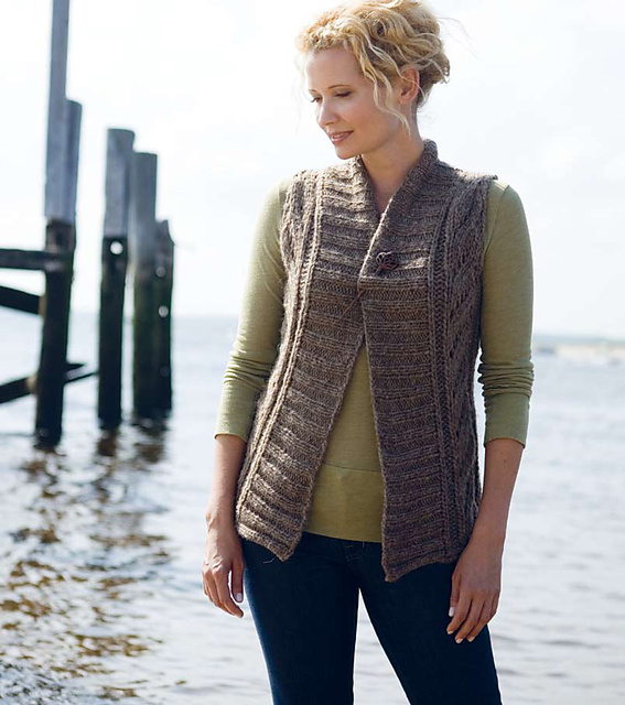 Ravelry Montague Bulky Lace Vest Pattern By Melissa Labarre