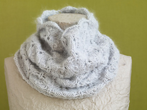 Ravelry Pale Gray Lace Cowl Pattern By Lion Brand Yarn