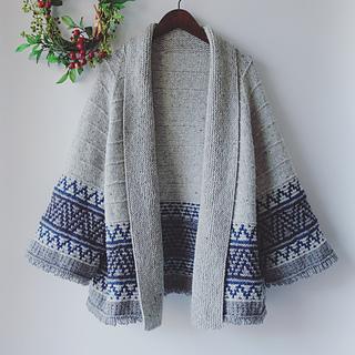 Boho style Mosaic Cardigan pattern by Irene Lin