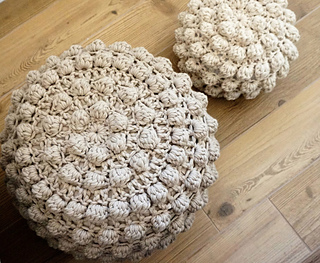 Ravelry Video Tutorial 4 Knitted Crochet Poufs Patterns