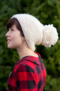 9b3ea769440 Ravelry  Anthropologie Inspired Pom-Pom Hat pattern by Jessica ...