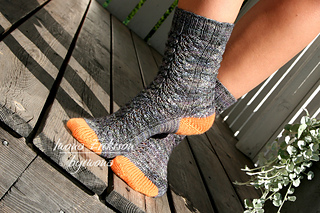 Ravelry: This is Halloween socks pattern by Iwona Eriksson