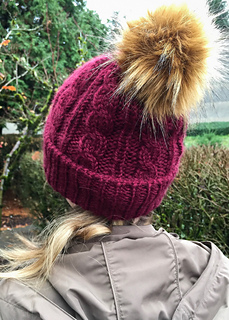 799ae90277f Ravelry  Cables Love Pom Poms pattern by Jami Brynildson