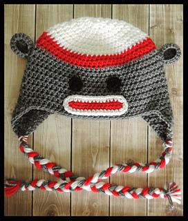 277e2f57ebd Ravelry  Sock Monkey Crochet Hat pattern by Jamie Huisman