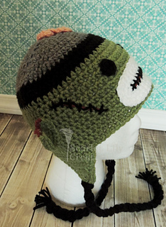 c2bb60ecdbd Ravelry  Zombie Sock Monkey Hat pattern by Jamie Huisman