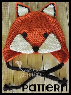 7850c2a4037 Ravelry  Fox Crochet Hat pattern by Jamie Huisman