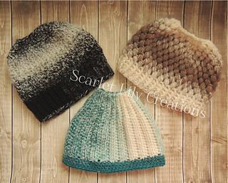 b9c384ea78e Ravelry  Messy Bun Ponytail Hat pattern by Jamie Huisman