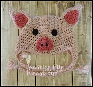 af72fca10d4 Ravelry  Piggy Hat pattern by Jamie Huisman