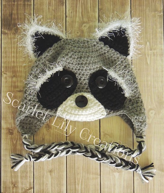 patterns   Scarlet Lily Creations Ravelry Store.   Raccoon Hat c45c2d02cab