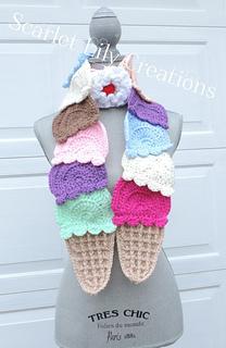 23e688c3dd7 Ravelry  Ice Cream Scarf pattern by Jamie Huisman