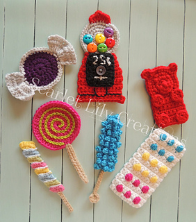 7943fb4becb Ravelry  Candy Appliques pattern by Jamie Huisman