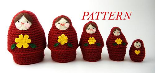 Ravelry Babushka Matryoshka Nesting Dolls Pattern By Jana Whitley