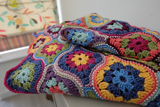 Mystical Lanterns Blanket pattern by Jane Crowfoot