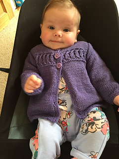 0b4cd8af2c242 Cardigan and Coat with Textured Cable Band ...