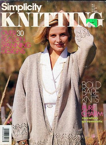 Ravelry Simplicity Knitting Springsummer 1988 Patterns