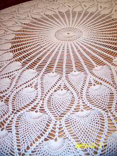 Ravelry Round Pineapple Tablecloth 7592 Pattern By The