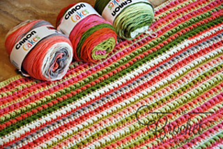 Ravelry: Watercolor Ridges Afghan pattern by Jeanne Steinhilber