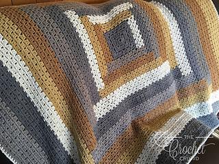 Ravelry Log Cabin Modern Granny Afghan Pattern By Jeanne