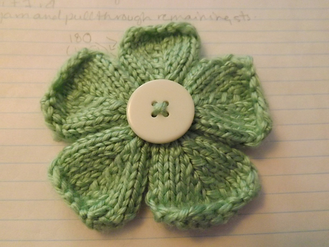 Ravelry: Five Petal Flower pattern by Jennifer Kanaski