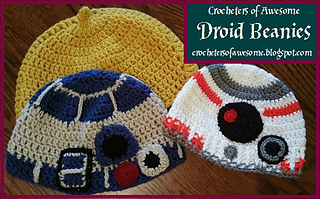 7fc739e257d patterns   Crocheters of Awesome.   Star Wars Droid Beanies