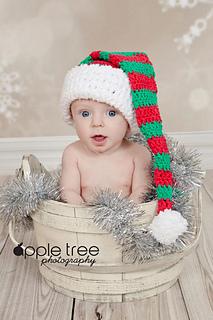 ccf36186392 Ravelry  Striped Stocking Cap - Santa or Elf Hat pattern by Crochet by  Jennifer