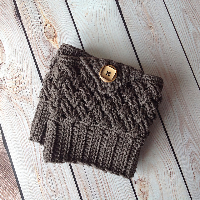 Patterns Crochet By Jennifer Diagonal Weave Boot Cuffs