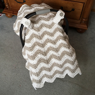 Free Crochet Pattern For Baby Car Seat Cover : Ravelry: Chunky Chevron Car Seat Canopy Cover pattern by ...
