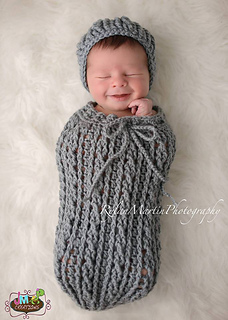 Ravelry Double Helix Baby Cocoon Or Swaddle Sack Pattern
