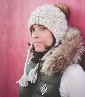1b0df9739c0 Ravelry  Chunky Texture Weave Earflap Hat pattern by Crochet by Jennifer