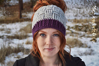 72b612cdda2 Ravelry  Basket Weave Ponytail or Messy Bun Hat pattern by Crochet ...