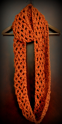 Ravelry: Diamond Lattice Chain Crochet Infinity Scarf pattern by ...