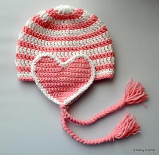 0440a7ae4ff Ravelry  Classy Heart Earflap Hat pattern by Classy Crochet