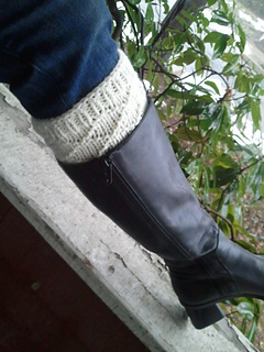 Ravelry My White Christmas Boot Toppers Pattern By