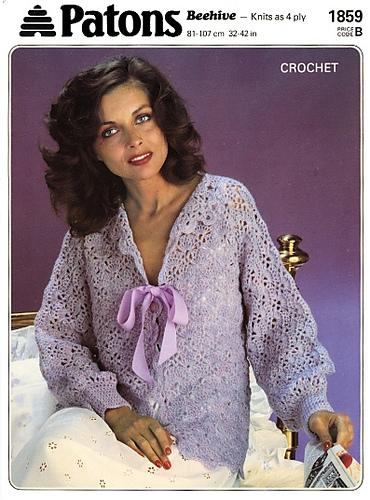 Ravelry Patons 1859 Crochet Bedjacket Patterns