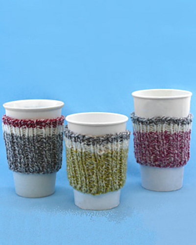 Ravelry Work Sock Cup Cozy Knit Pattern By Bernat Design Studio