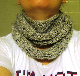 Infinitely Simple Lace Infinity Scarf Pattern By Jessica Cook Ravelry
