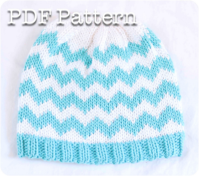 Ravelry: Chevron Baby Hat pattern by Jessica Keith