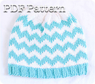 02f862f5817 Ravelry  Chevron Baby Hat pattern by Jessica Keith