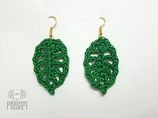 Ravelry Spring Leaf Crochet Earring Pattern By Passion Hues