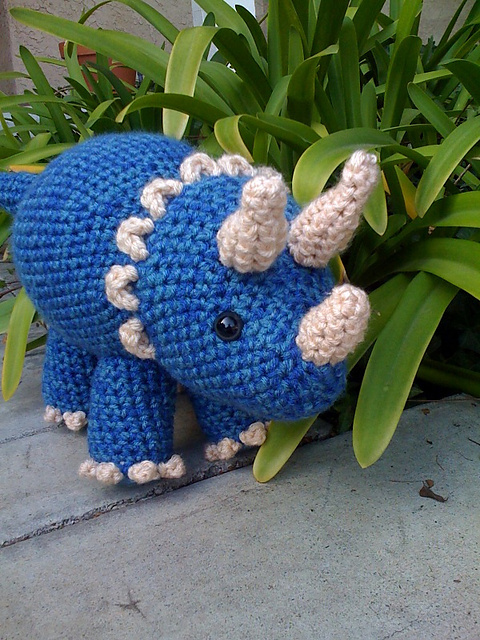 Ravelry Triceratops Dinosaur Pattern By Joanne Succari