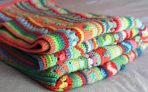 Ravelry Mixed Stitch Stripey Blanket Pattern By Julie