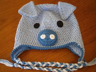 d141a5816e9 Ravelry  Novelty Pig Hat pattern by Julie Black Designs