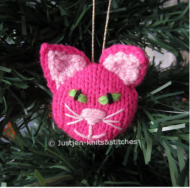 Ravelry Knitted Cat Musical Christmas Ornament Pattern By Jenny Stacey