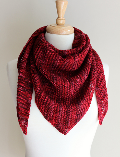 Ravelry Truly Triangular Scarf Pattern By Michelle Krause