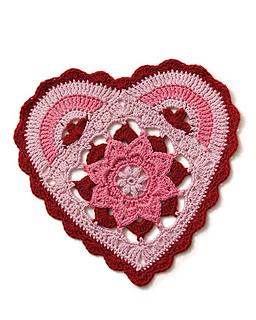 ravelry candy heart mandala pattern by melinda miller