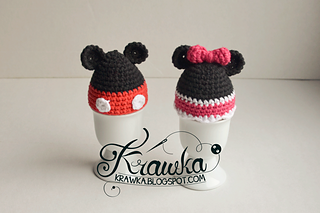 http://www.ravelry.com/patterns/library/minnie-and-mickey---egg-warmers